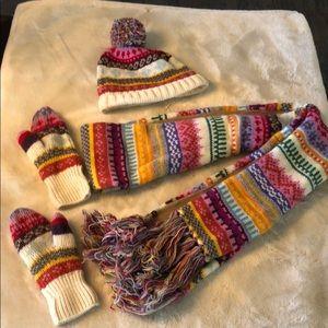 Gap scarf, hat & gloves